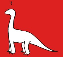 The Quizzical Dinosaur (solid white) by QuizDinosaur