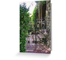 Garden Gate, Glamis Castle Greeting Card