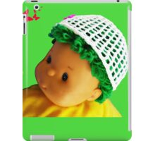 Baby doll with butterflies iPad Case/Skin