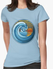 Circle Landscape Womens Fitted T-Shirt