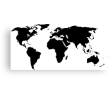 A Simple Globe Canvas Print
