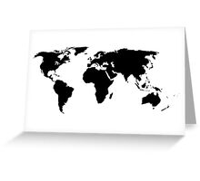 A Simple Globe Greeting Card