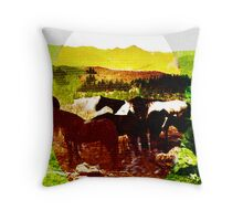 High Plains Horses, A Picture for Brittany Parks Throw Pillow