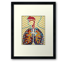 Happy and Nicotine Free Lungs Framed Print