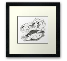 Trex skull Framed Print