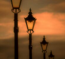 Lamp Standard at Sunset * by David Hutcheson