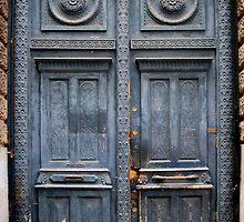 Blue Door - Lille by Karen Martin