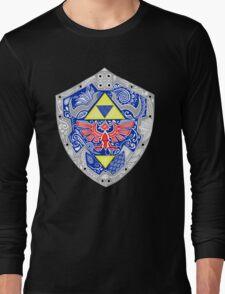 Zelda - Link Shield doodle Long Sleeve T-Shirt