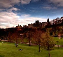 Princes Gardens & the Mound * by David Hutcheson
