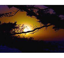 Golden Coastal Sunset Photographic Print