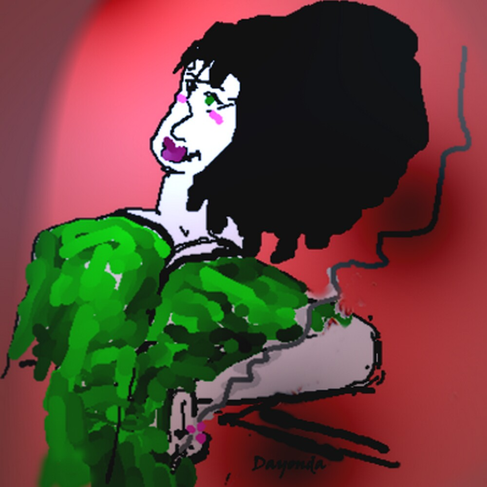 *CARICATURE OF MY MOM*  (Full-size) by Dayonda