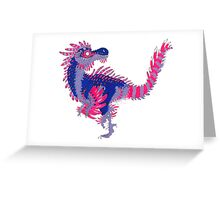 Bisexual Pride Dinosaur Greeting Card