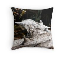 Bird Wood Throw Pillow