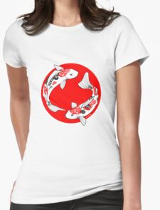 Japanese koi Womens Fitted T-Shirt