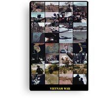 Snippets of the Vietnam War Canvas Print