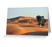 sunset in the desert Greeting Card