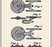 Enterprise Toy Figure Patent - Colour by FinlayMcNevin