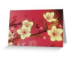Yoshie blossom pink Greeting Card