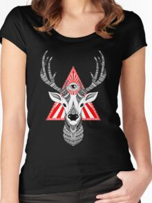 Mystical Deer Women's Fitted Scoop T-Shirt