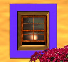 Sunset reflecting in Window by Guy C. André Tschiderer