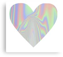 Shiny Rainbow Heart Canvas Print