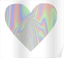 Shiny Rainbow Heart Poster