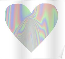 Shiny Rainbow Heart Poster