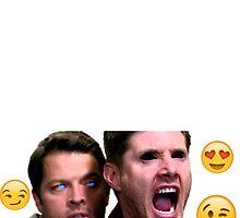 Destiel Emoji love by Laurieb182