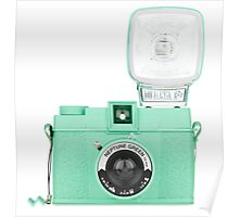 Neptune Green Vintage Camera Poster