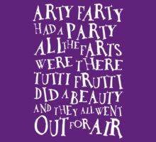 Arty Farty Poem (for dark shirts) by Ross Robinson