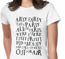 Arty Farty Poem (for light shirts) T-Shirt