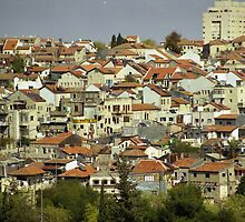 A panorama view on Nahlaot suburb in Jerusalem by zangi12