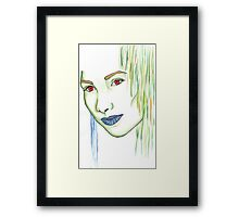 Green woman Framed Print