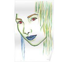 Green woman Poster