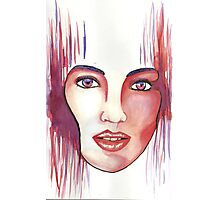 Red hot woman Photographic Print