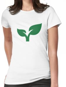 Green leaves Womens Fitted T-Shirt