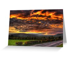 Sperrin Valley Sunset - Draperstown, Co. Derry Greeting Card