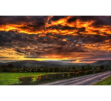 Sperrin Valley Sunset - Draperstown, Co. Derry Photographic Print