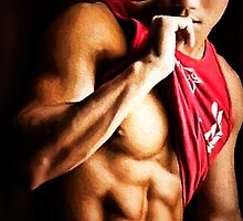 Abs and a Red Shirt by Michael Taggart