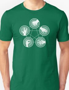 Rock Paper Scissors Lizard­ Spock­ Unisex T-Shirt