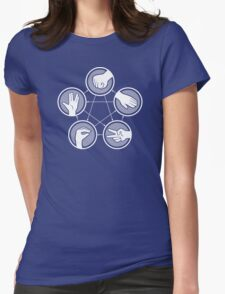 Rock Paper Scissors Lizard­ Spock­ Womens Fitted T-Shirt