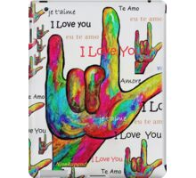 LOVE IN ANY LANGUAGE iPad Case/Skin