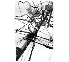 Lamp Post & Power Lines Poster