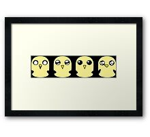 Gunter's Faces Framed Print