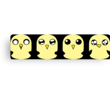 Gunter's Faces Canvas Print