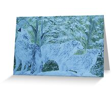 Snow Wolves Greeting Card