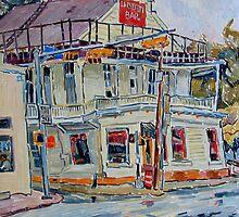 Liberty bar in San Antonio. Rainy day. by Vitali Komarov