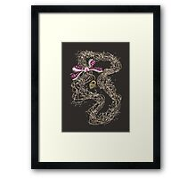 Edwardian Pearls, Bejewelled Ribbon & Padlock Jewellery  Framed Print