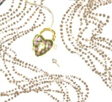 Edwardian Pearls, Bejewelled Ribbon & Padlock Jewellery  Sticker