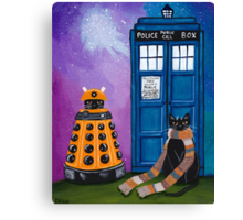 The Doctor and the Dalek Canvas Print